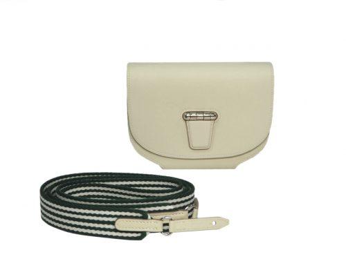 Hermes Mini Convoyeur Amazon Craie/ Vert Anglais/ Blanc Port-0