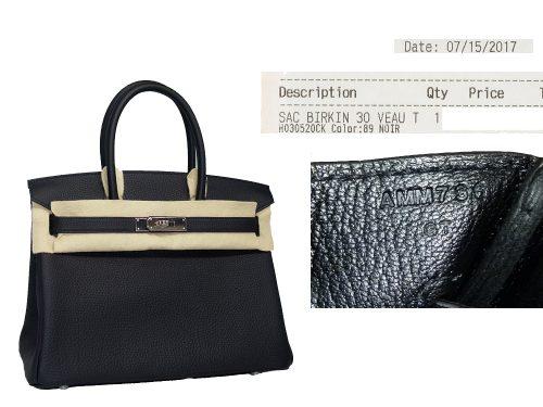 Hermes Birkin 30 Black Togo A Stamp Palladium Hardware-0