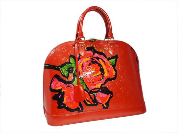 Louis Vuitton Monogram Vernis Roses Alma GM in Rose Pop (MI0069)-38401