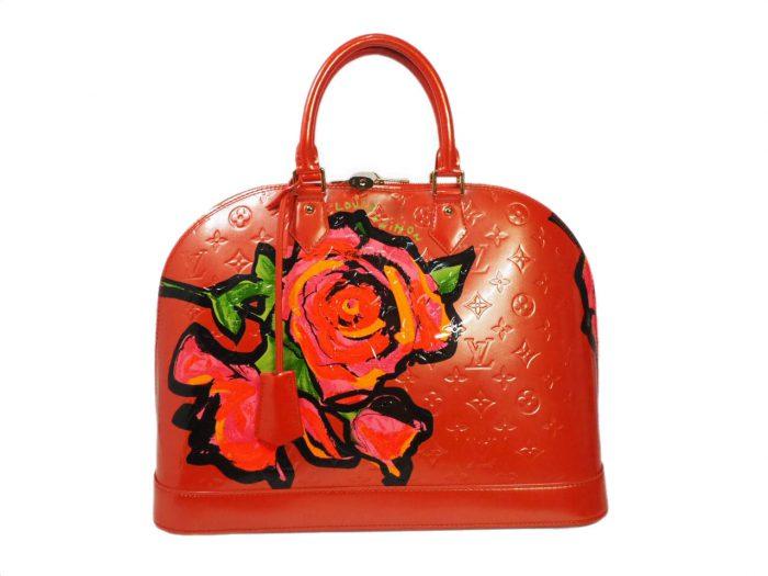 Louis Vuitton Monogram Vernis Roses Alma GM in Rose Pop (MI0069)-0