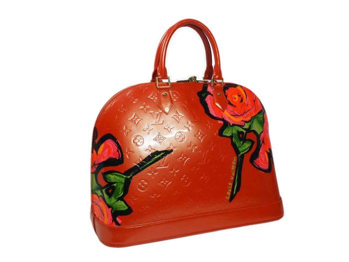 Louis Vuitton Monogram Vernis Roses Alma GM in Rose Pop (MI0069)-38405