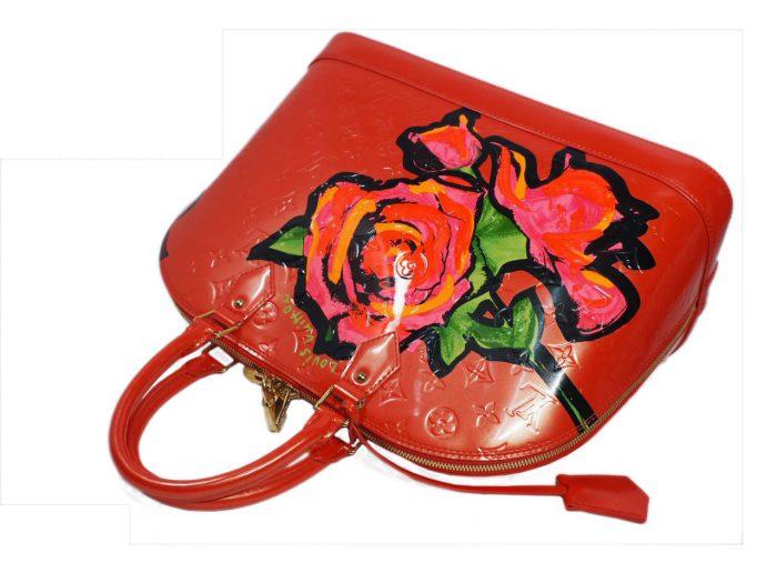 Louis Vuitton Monogram Vernis Roses Alma GM in Rose Pop (MI0069)-38408