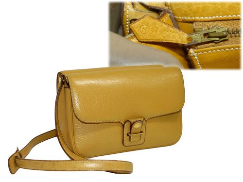 Hermes Dolly Sellier Pastal Yellow H Stamp Gold Hardware 2- Way Shoulder/ Crossbody Bag-0
