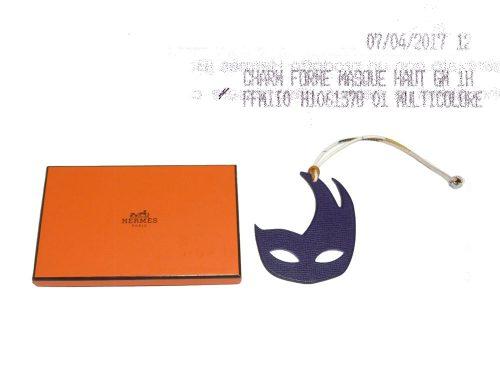 Hermes Charm Petit H Mask Etain/ U.Violet Bag Charm-0