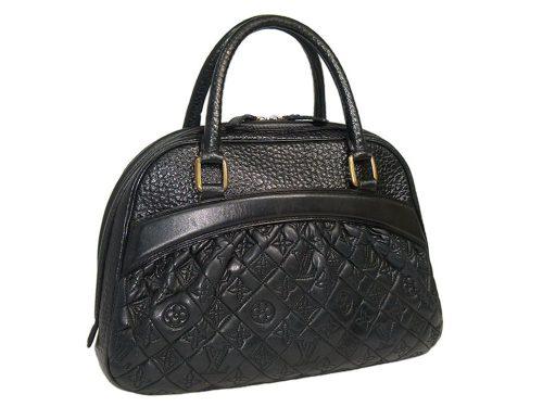 Louis Vuitton Monogram Quilted Lambskin Mizi Vienna GM w Alligator Trim Tote Bag-0