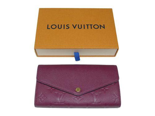 Louis Vuitton M62213 Raisin Monogram Empreinte leather Envelope-Style Sarah wallet (CA0168)-0