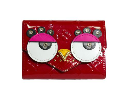 "Limited Collection ! Louis Vuitton M62317 Red Monogram Vernis ""BIRD"" Victorine Wallet -0"