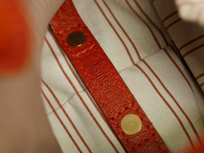Limited Collection ! Louis Vuitton Orange Rouille Sac de Nuit Toile Trianon MM -32366