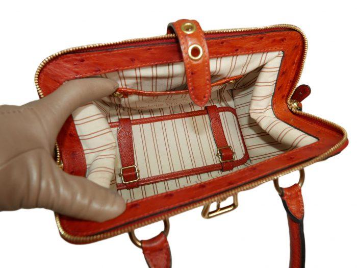 Limited Collection ! Louis Vuitton Orange Rouille Sac de Nuit Toile Trianon MM -32364