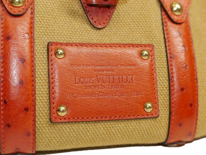 Limited Collection ! Louis Vuitton Orange Rouille Sac de Nuit Toile Trianon MM -32368