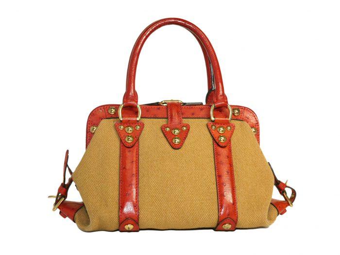 Limited Collection ! Louis Vuitton Orange Rouille Sac de Nuit Toile Trianon MM -32378