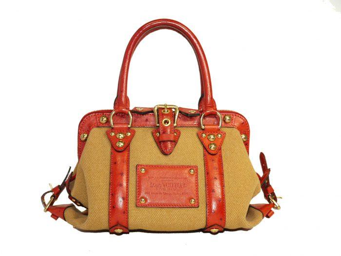 Limited Collection ! Louis Vuitton Orange Rouille Sac de Nuit Toile Trianon MM -0