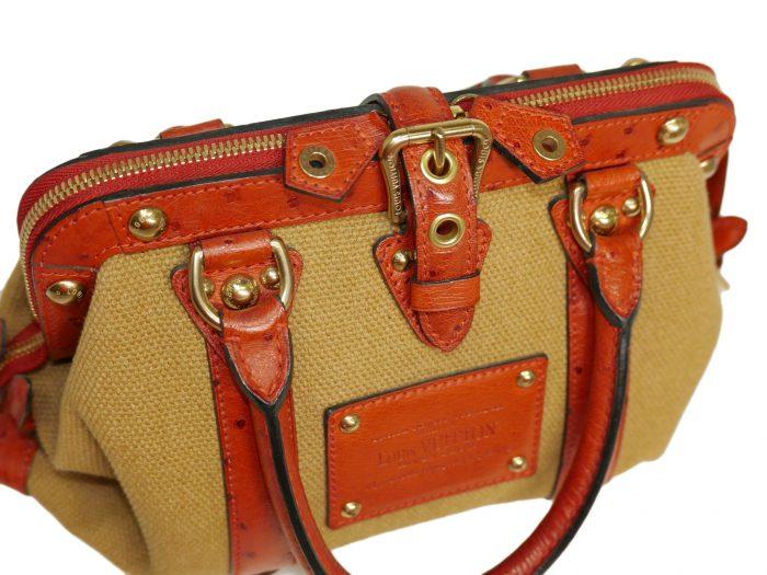 Limited Collection ! Louis Vuitton Orange Rouille Sac de Nuit Toile Trianon MM -32373