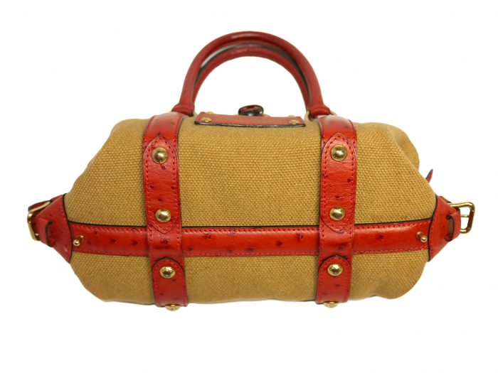 Limited Collection ! Louis Vuitton Orange Rouille Sac de Nuit Toile Trianon MM -32379