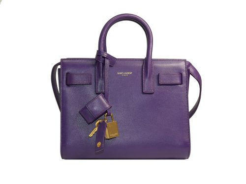 Saint Laurent 2013 YSL 340778 Classic Nano Sac De Jour Bag in Violet Purple Smooth Leather-0