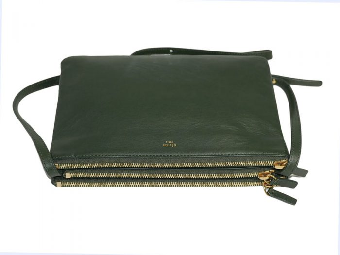 Celine 171453 Olive Green / Amazona Trio Bag Multiple Zipped 3-Way Large Messenger Bag in Smooth Lambskin -32496