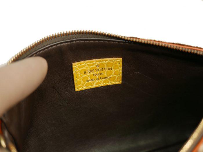 Limited Collection ! Louis Vuitton Monogram Pattern Terrycloth Velvet Trompe L'Oeil Pochette -32297