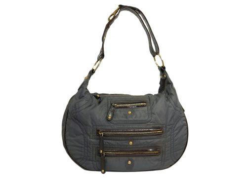 Tods Grey Pashmy Soft Fabric Multi- Zipped Hobo/ Cross Body Bag -0