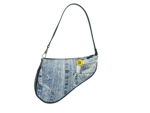Limited Collection ! Dior Denim Saddle Bag Purse/ Accessories Pouch -0