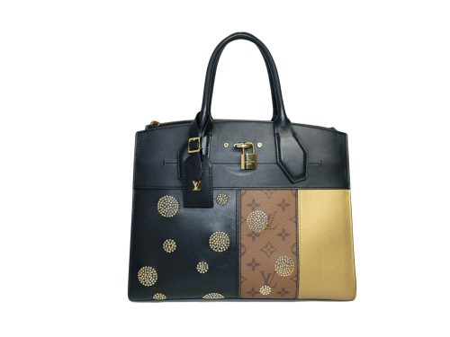 Limited Collection ! Louis Vuitton M43406 Steamer MM Reverse Business Bag with Strap -0