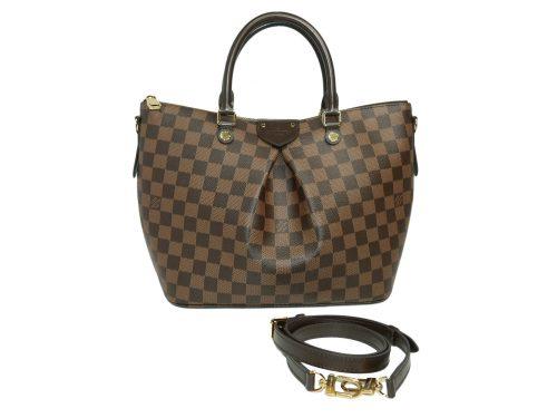 Louis Vuitton N41546 Siena MM Damier Ebene Top Handle Shoulder Bag with Strap-0