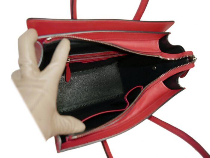 Celine 167793LBA.27VL Vermillon/ Red Micro Luggage Tote-33315