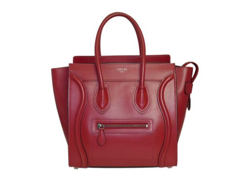 Celine 167793LBA.27VL Vermillon/ Red Micro Luggage Tote-0