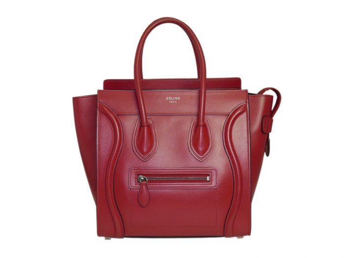 Celine 167793LBA.27VL Vermillon/ Red Micro Luggage Tote-0