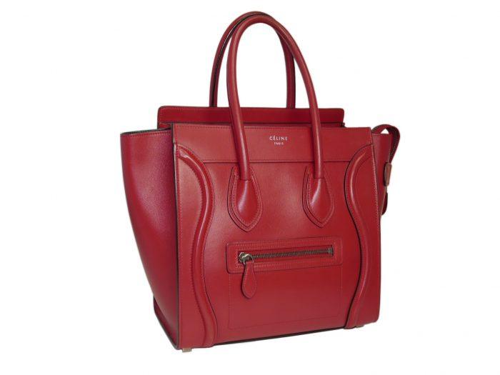 Celine 167793LBA.27VL Vermillon/ Red Micro Luggage Tote-33313