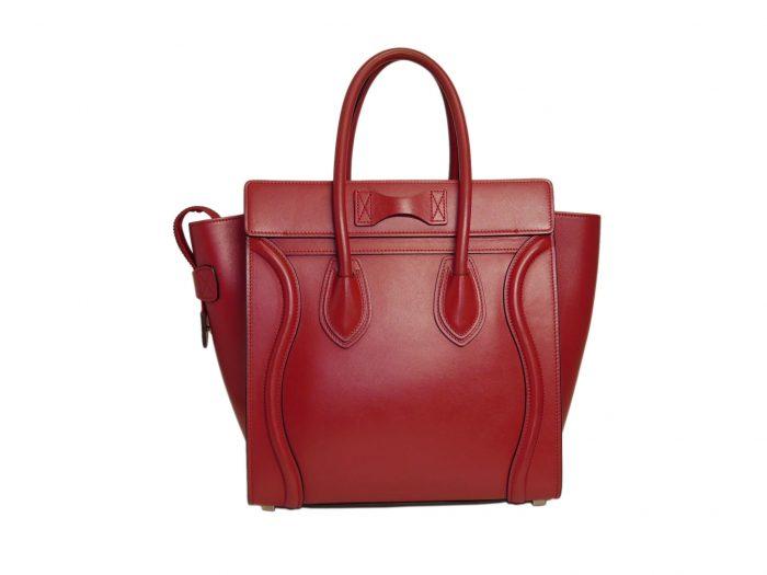 Celine 167793LBA.27VL Vermillon/ Red Micro Luggage Tote-33316