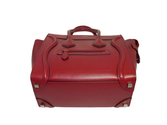 Celine 167793LBA.27VL Vermillon/ Red Micro Luggage Tote-33317
