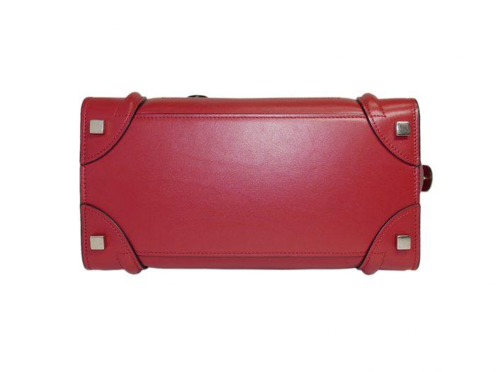 Celine 167793LBA.27VL Vermillon/ Red Micro Luggage Tote-33318