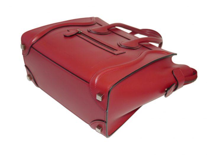 Celine 167793LBA.27VL Vermillon/ Red Micro Luggage Tote-33319