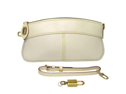 Louis Vuitton M95629 Suhali White Wrist Pouch Lockit Clutch -0