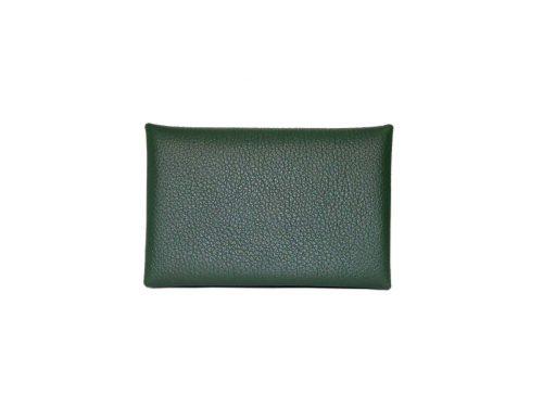 Hermes Evercolor Vert Anglais Calvi Card Holders-0