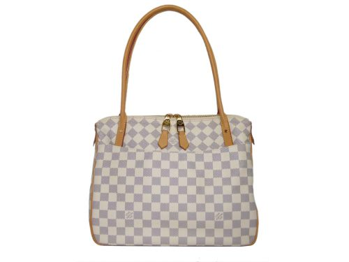 Louis Vuitton N41176 White Damier Azur Figheri PM Shoulder Bag -0