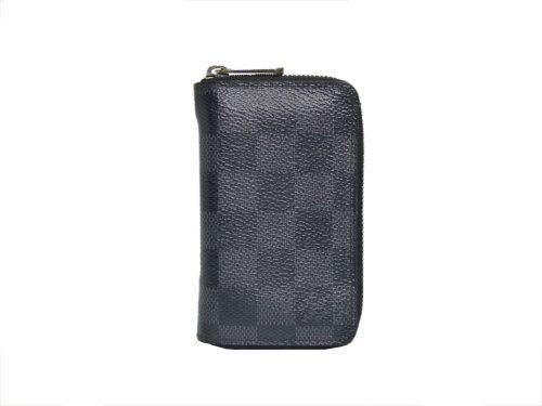 Louis Vuitton N63076 Damier Graphite Canvas Zippy Coin Purse Vertical Wallet-0