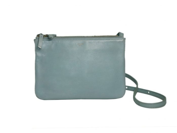 Celine Baby Blue ( Gacier) Trio Bag Small Messenger Bag -0