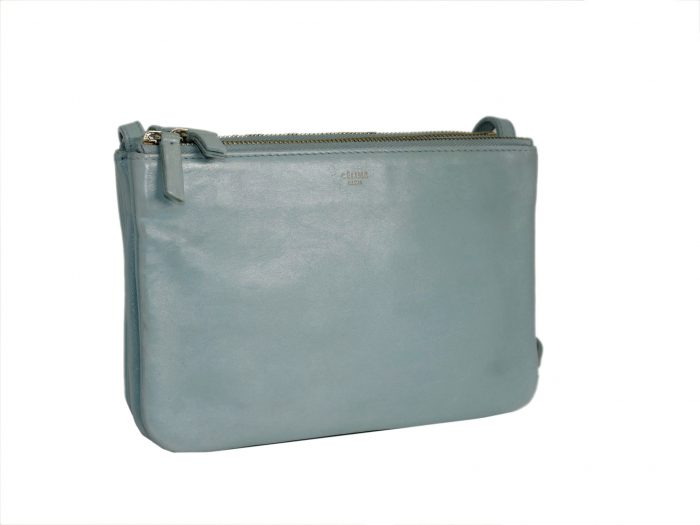 Celine Baby Blue ( Gacier) Trio Bag Small Messenger Bag -34593