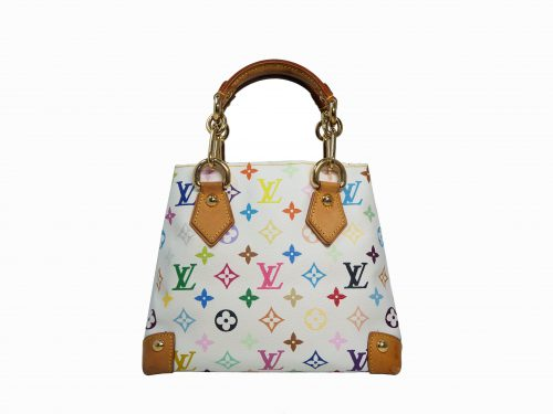 Louis Vuitton M40047 Monogram Multicolor White Audra Tote Handbag-0