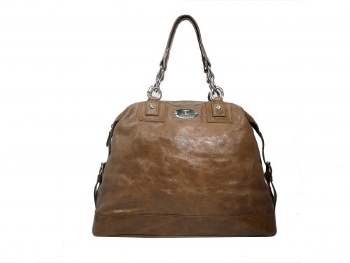Celine Brown Aged Glazed Boston Large Tote-0