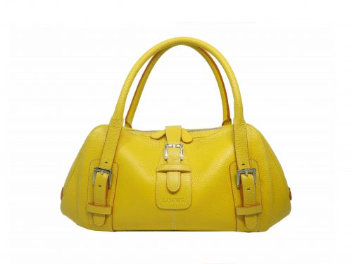 Loewe 310.79.028 Yellow Calf Senda Shoulder bag-0