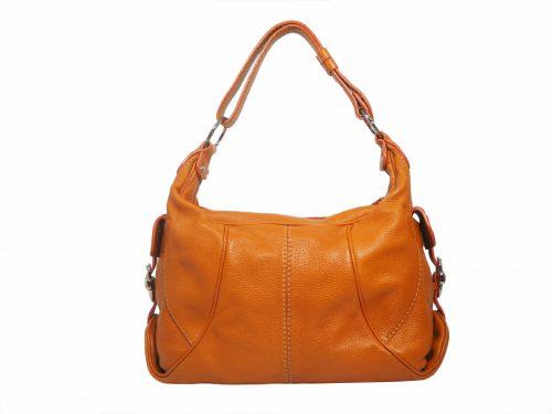 Tods Natty Sacca Piccola Orange Leather Hobo Bag-0
