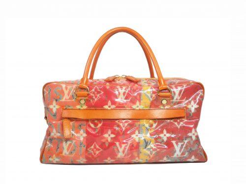 Louis Vuitton Richard Prince Limited Edition Le Rose / Orange Defile Denim Pulp Weekender / Travel Bag (MI0068)-0
