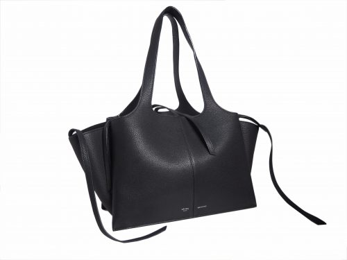 Celine Black Calf Tri-fold Medium Document Shoulder Bag-35299