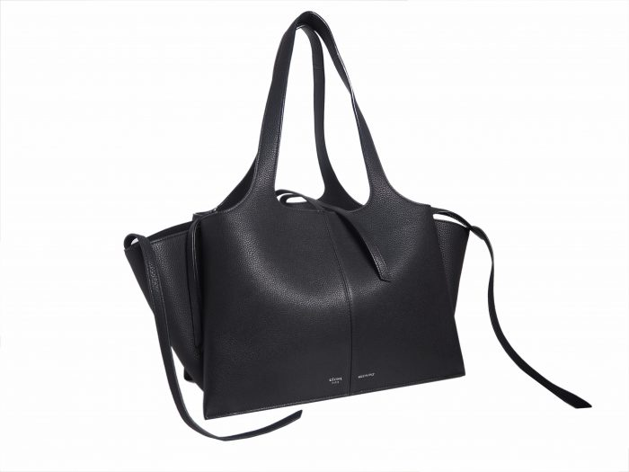 Celine Black Calf Tri-fold Medium Document Shoulder Bag-35299