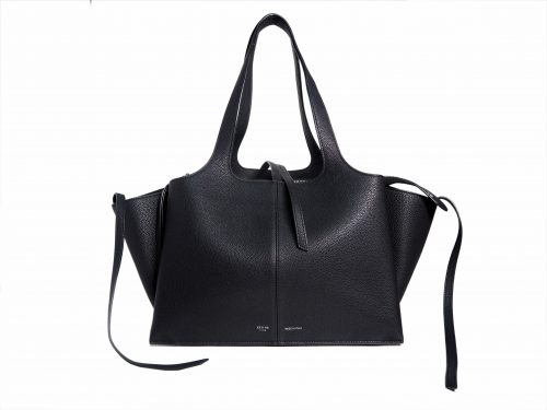 Celine Black Calf Tri-fold Medium Document Shoulder Bag-0