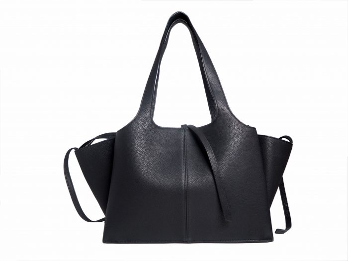Celine Black Calf Tri-fold Medium Document Shoulder Bag-35300
