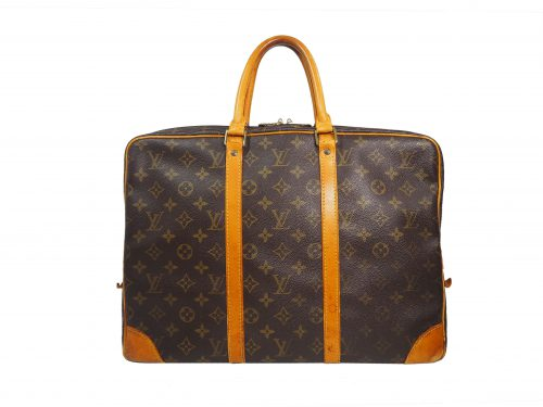 Louis Vuitton M40226 Monogram Canvas Soft Briefcase / Porte-Document Voyage Bag-0
