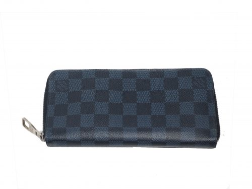 Louis Vuitton N62240 Damier Cobalt Canvas Zippy Wallet Vertical -0